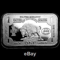 1 Troy Oz. 999 Silver 1901 $10 Bison Bar Bu + 10 Piece Alaskan Pure Gold Nuggets