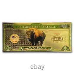 1 gram Gold Aurum Note One Thousand Milligrams (Bison, 24K) SKU#173163