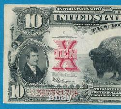 $10. 1901 Fr. 122 Bison Legal Tender United States Note Beautiful Choice Vf