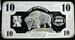 10 oz Bison Proof Silver Bar