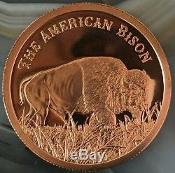 100 1 oz Copper Shield Backs American Bison premium rounds From Provident. 999