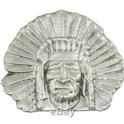 12 Troy Ounce. 999 Fine Silver Bison Bullion Indian Chief First 50 Serial #16-50