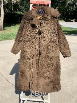 1890s-Early 1900's Men's Authentic Pioneer, Plainsman Buffalo/Bison Fur Coat