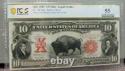 1901 $10.00 Legal Tender Bison Note FR122 PCGS AU 55 (73)