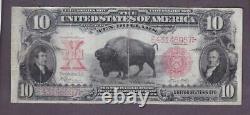1901 $10 Antique Beautiful Vf'bison' Legal Tender U. S. Note