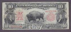 1901 $10 Antique Vf'bison' Legal Tender U. S. Note