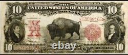 1901 $10 BISON PRIME CHOICE US Currency FULL CRISP