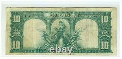 1901 $10 BISON United States Legal Tender Large Note Fr 114 TOUGH LYONS-ROBERT