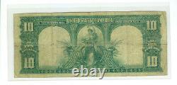 1901 $10 BISON United States Legal Tender Large Note Fr 116 TOUGH VERNON-TREAT