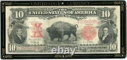 1901 $10 Bison Buffalo United States Note Large Size Red Seal US Currency JL61