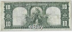 1901 $`10'Bison' Large Size Legal Tender Note (Fine / Pinholes)