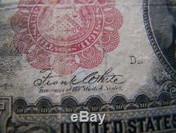 1901 $10 Bison Legal Tender. Fine. Red Seal Ten Dollar