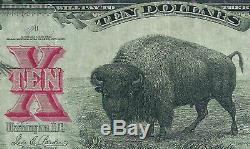 1901 $10 Bison Legal Tender Note PMG 30 FR119 VINTAGE PAPER MONEY