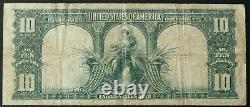 1901 $10 Fr-122 Bison Note A Nice Original Vf Circulated Bison