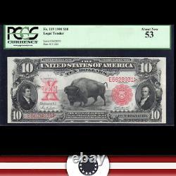 1901 $10 LEGAL TENDER BILL BISON NOTE PCGS 53 Fr 119 E6628931