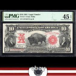 1901 $10 LEGAL TENDER BILL BISON NOTE PMG 45 EPQ Fr 120 E27658754