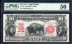 1901 $10 LEGAL TENDER BILL BISON NOTE PMG 50 Fr 122 E59587513