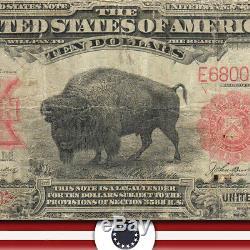 1901 $10 LEGAL TENDER BISON NOTE Fr 119 R680050