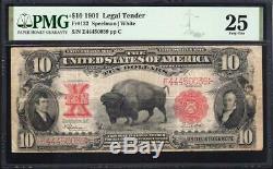 1901 $10 LEGAL TENDER BISON NOTE PMG 25 Fr 122 E44450039