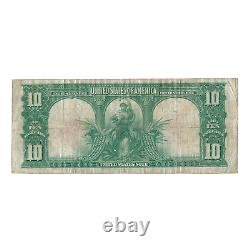 1901 $10 Large Size Legal Tender Bison Note FR#122, Circulated