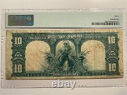 1901 $10 Legal Tender Bison Fr# 122 PMG Choice Fine 15