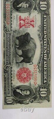 1901 $10 Legal Tender Bison Note Fr#117