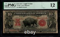 1901 $10 Legal Tender Bison Note PMG 12 Fr. 114 Item #8078937-017