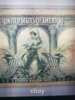 1901 $10 Legal Tender Bison PMG Fine-15 Fancy Serial Number + a Gift