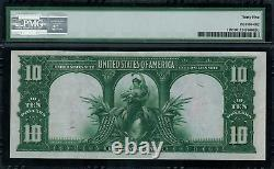 1901 $10 Legal Tender FR-119 Bison Graded PMG 35 Choice Very Fine