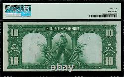 1901 $10 Legal Tender FR-119 Bison Graded PMG 55 About Uncirculated