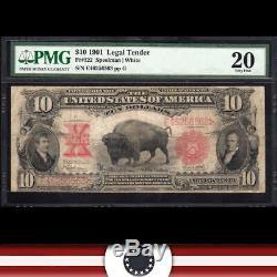 1901 $10 Legal Tender Note BISON PMG 20 Fr 122 E46256563