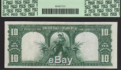1901 $10 Legal Tender Note Bison Fr# 122! Pcgs Au 58