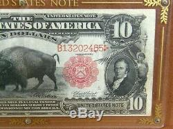 1901 $10 Legal Tender Note USN Buffalo or Bison Note Ten Dollar Bill Currency