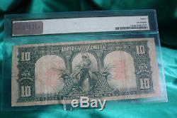 1901 $10 Legal Tender, PMG F12 Fr#122, Bison. Speelman/White