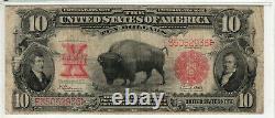 1901 $10 Legal Tender Red Seal Bison Fr. 122 Speelman / White Pmg Very Fine 20