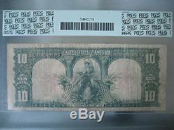 1901 $10 Ten Dollar Bill Note Currency Cash Legal Tender PCGS Fine 15 Bison