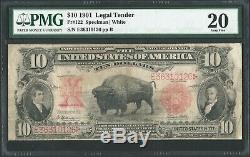 1901 $10 Ten Dollar Bison Legal Tender United States Note Fr#122 PMG VF 20
