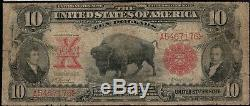 1901 $10 Ten Dollar Bison United States Legal Tender Note Fr#115