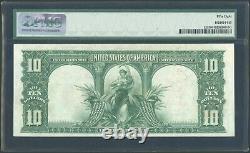 1901 $10 Ten Dollar Legal Tender Bison United States Note Fr#121 PMG AU 58