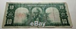 1901 Bison $10 USA Banknote Parker/ Burke VG/FINE