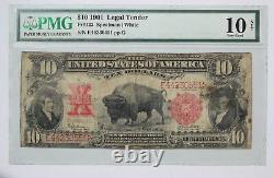 1901 Lewis & Clark Bison $10 Legal Tender Note PMG VG-10 1O5H