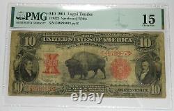 1901 PMG F15 Fr#122 $10 Bison Note US Item #26805F