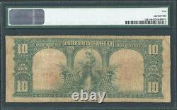 1901 Star $10 Ten Dollar Bison Buffalo United States Note Fr#122 PMG VG 10