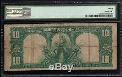 1901 Star STAR NOTE $10 Ten Dollar Bison US Legal Tender Fr#122 PMG F 12