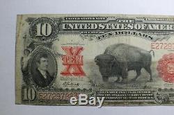 1901 Ten Dollar $10 Bison Legal Tender United States Note E27297883