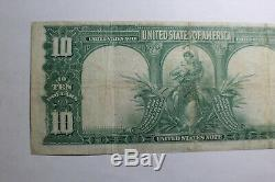 1901 Ten Dollar $10 Bison Legal Tender United States Note E60586698