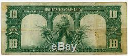 1901 US $10 Bison Large Legal Tender Note Elliott & White VF FR #121