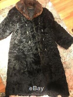1913 Patagonian Bison Long Fur Coat Men's XL Gordon & Ferguson Buffalo
