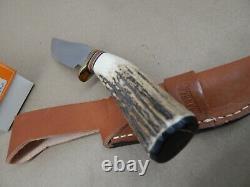 2001 MARBLES Gladstone USA Custom Shop BISON Carver STAG HUNTING KNIFE Mint