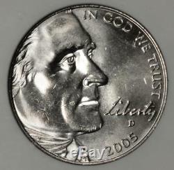 2005 D ANACS MS65 Speared Bison Nickel Mint Error Amazing Grade Great Eye Appeal